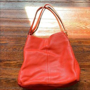 Orange/red coach phoebe shoulder bag